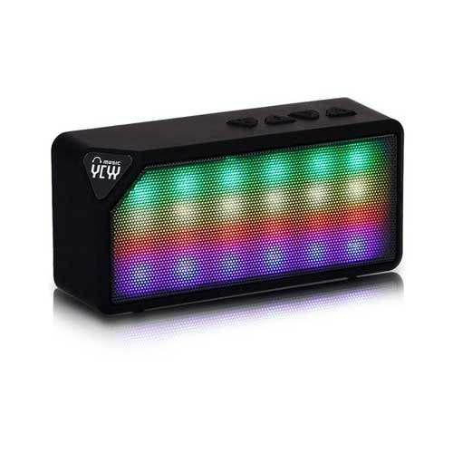 Mini parlante inalámbrico con luces led entradas(usb/fm/sd)
