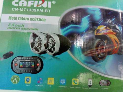 Parlante para moto lineal con alarma, bluetooth, usb.,fm