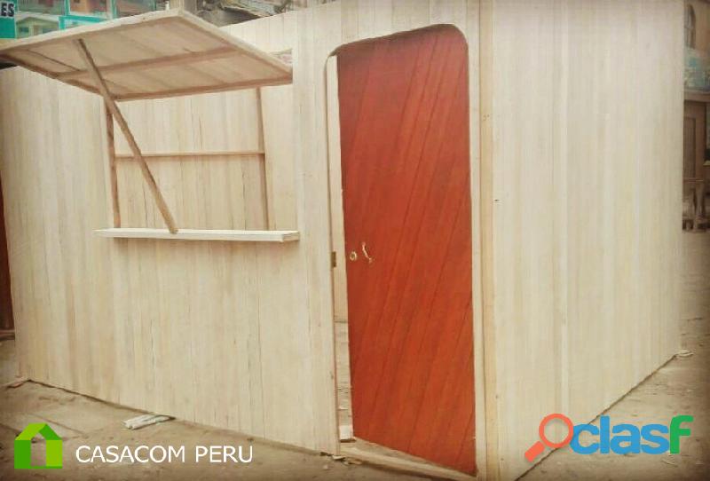 Kioscos prefabricados de madera ecológica, venta a nivel nacional