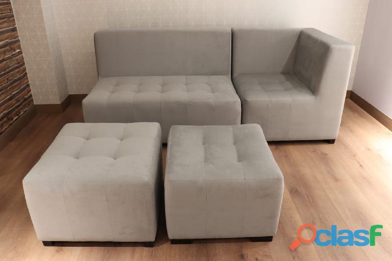 Sofá seccional 4 piezas con diseño