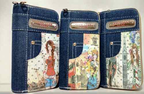 Cartera bolso billetera mujer blue jeans