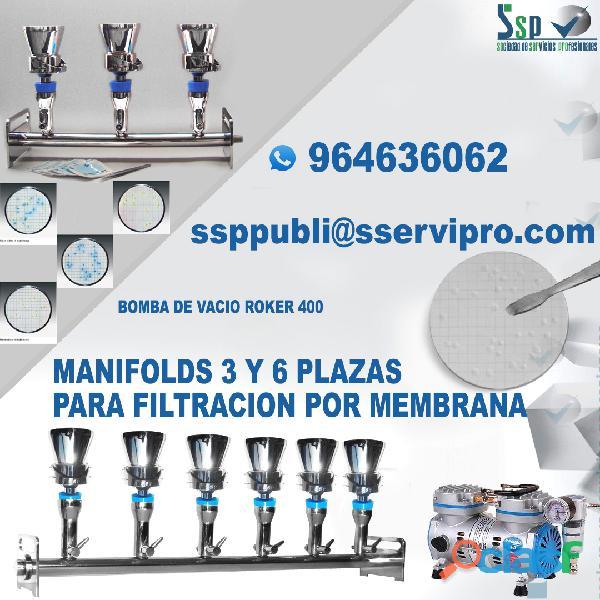 Sistema de filtracion por membrana ssp para el control de calidad