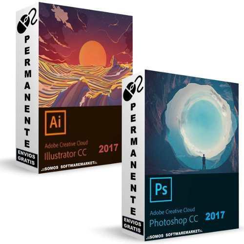 2x1 kit photoshop + illustrator cc 2017 con video tutorial