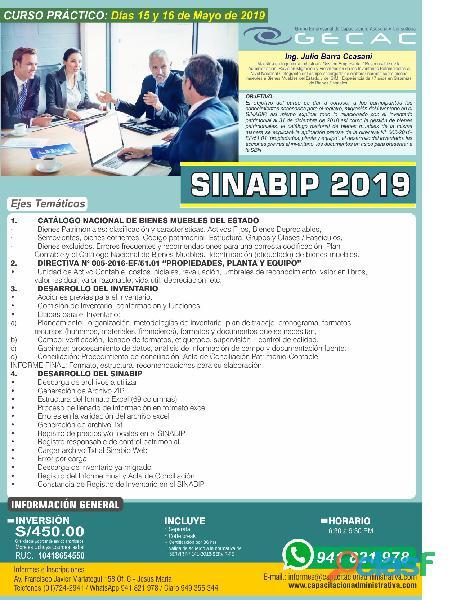 Curso práctico: sinabip 2019