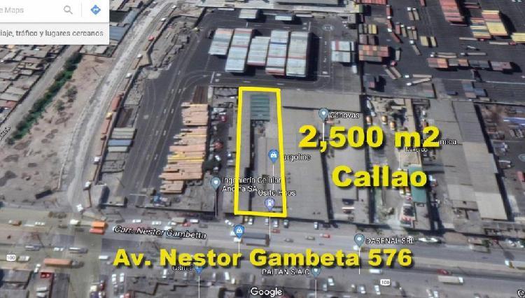 Alquilo local industrial de 2,500 m2 en av. nestor gambeta