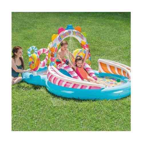 Piscina inflable de 295x191x130cm con juegos candy zone