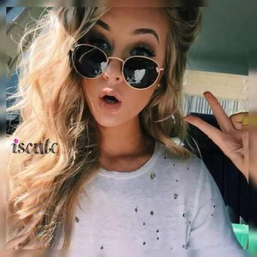 5811b8062a Lentes gafas de sol mujer redondos negros espejo unisex en Peru ...