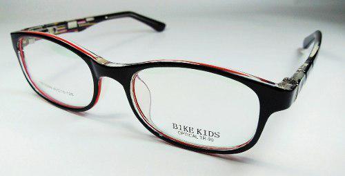 Lentes, gafas, montura, marcos de medida para niños rojo