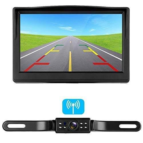 Rv digital wireless backup camera system with 5 inch lcd mo