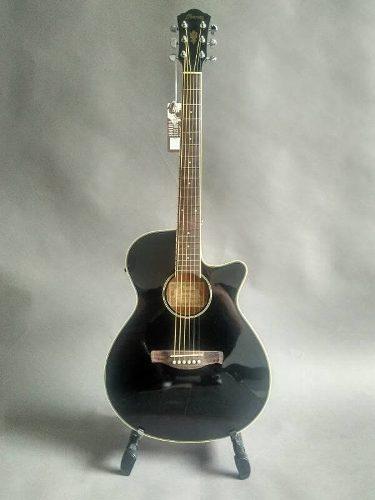 Guitarra electroacustica ibanez aeg8e bk cuerdas de metal