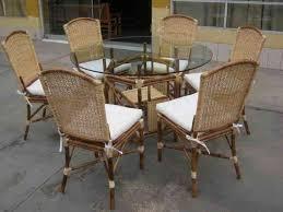 Muebles de rattan bambu mimbre esterilla