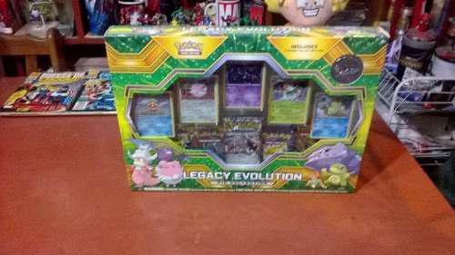 Pokemon cartas originales legacy evolution + pin de regalo