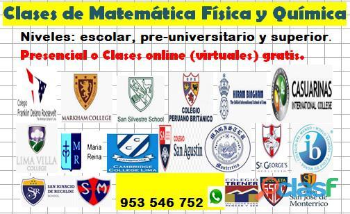 Clases de Matemáticas, Física y Química a domicilio con óptimos resultados cel 953546752