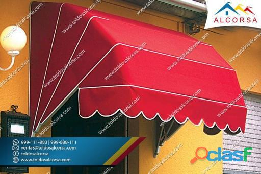 Toldos modelo pico de loro para tiendas y negocios, pedidos al: 999888111