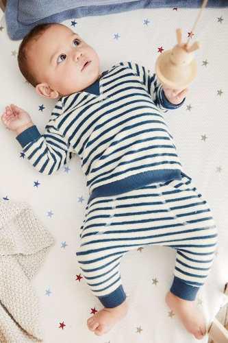 Bebe niños set azul de sweater y joggers 6-9 meses - next