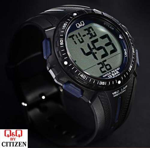 11fb009ca70a Reloj deportivo casual negro digital hombre q  amp  q by citizen