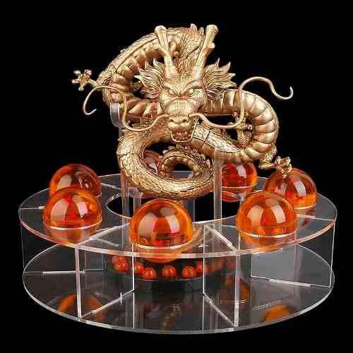 Shen long dorado verde metálico base+esferas dragon ball z