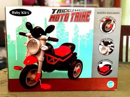 Triciclo moto trike baby kits para niña o niño