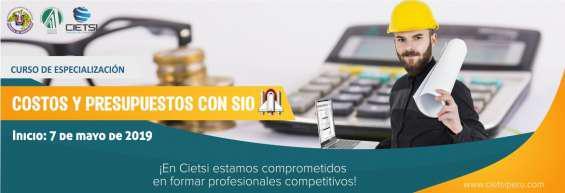 Curso de especialización en costos y presupuestos con s10