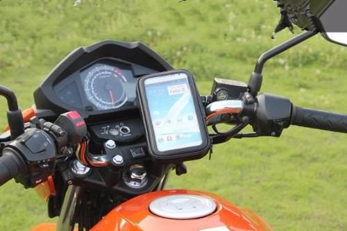 Holder para moto porta celular gps funda gift