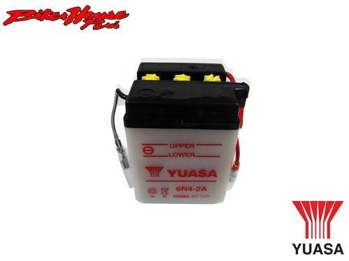 Bateria para moto yuasa 6n4-2a honda yamaha suzuki kawasaki