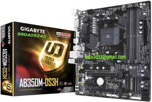 PLACA MADRE GIGABYTE AB350M-DS3H AM4 X370 DDR4 segunda mano  Peru (Todas las ciudades)