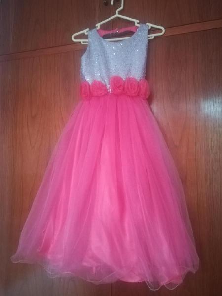 Vestido De Fiesta Para Niña Talla 10 Color Coral En