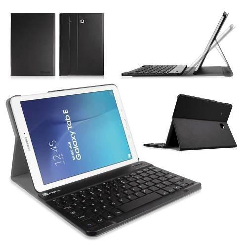 Case galaxy tab e 9.6 t560 t561 t565 c/ teclado bluetooth