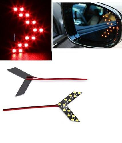 Par luces led direccionales tipo flecha espejo retrovisor