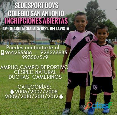 Academia sport boys sede colegio san antonio