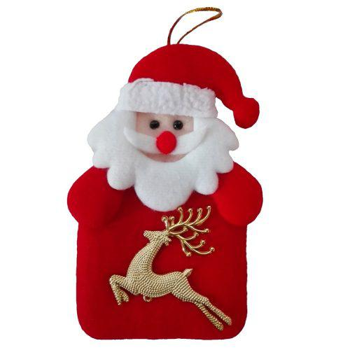Adorno arbol navidad papanoel 14 cm regalo decora sala casa