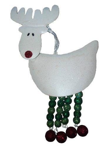 Adorno metal reno 3d 15cm adorno decora regalo navidad amor