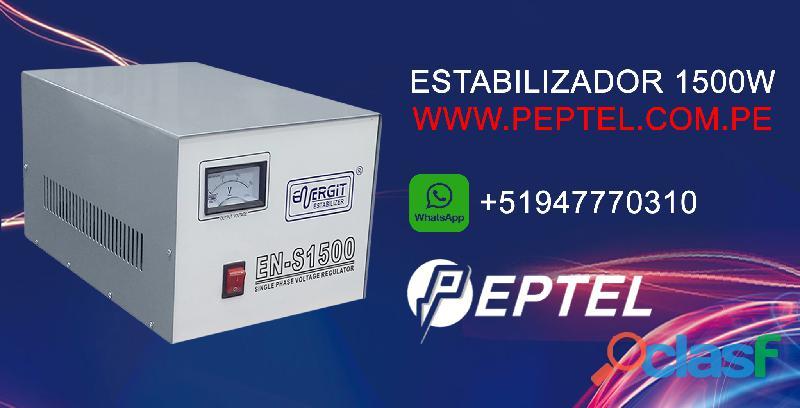 Estabilizador de voltaje 1500 watts