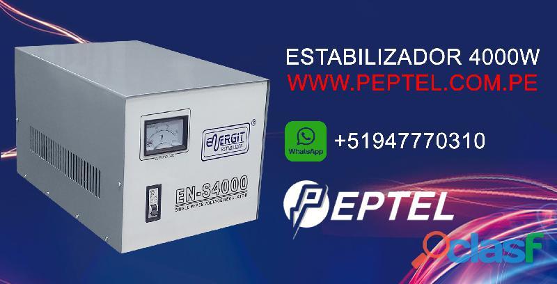 Estabilizador de voltaje 4000 watts