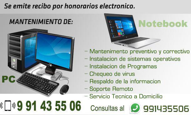 Servicios informáticos: mantenimiento de computadoras