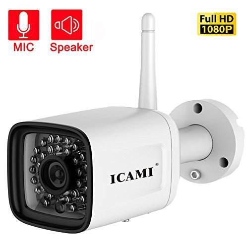 Icami hd 1080p wifi inalambrico camara de seguridad al aire