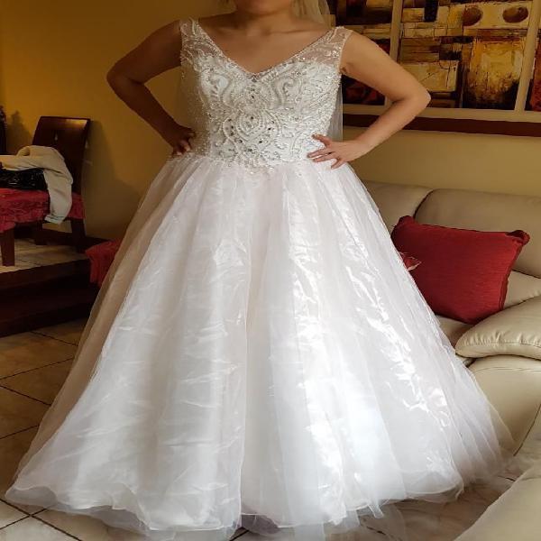 reloj venta más caliente mejor elección Vestido Novia Nuevo Ivory Princesa