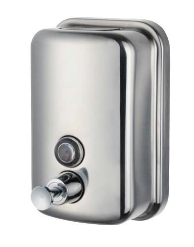 Dispensador en acero 500cc para jabón líquido o gel #pmds