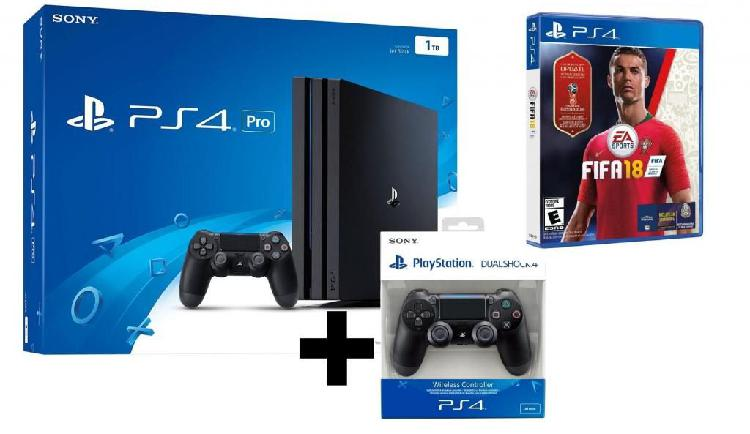 Ps4 pro 1tb 4k hdr playstation mas fifa 2018 world cup