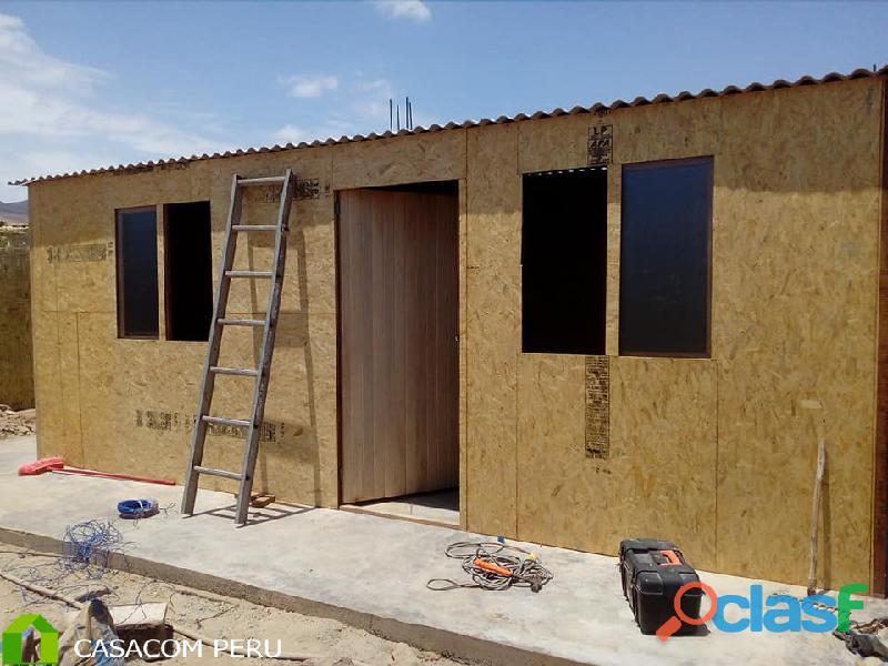 Construccion de campamentos mineros prefabricados en madera osb y machihembrado