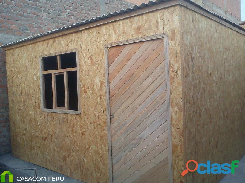Dormitorios de madera machihembrado, entregas a nivel nacional