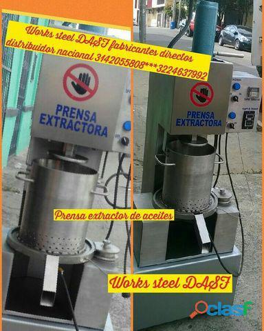 Maquina extractora para aceite de todo tipo, aguacate, coco, corozo, entre otras