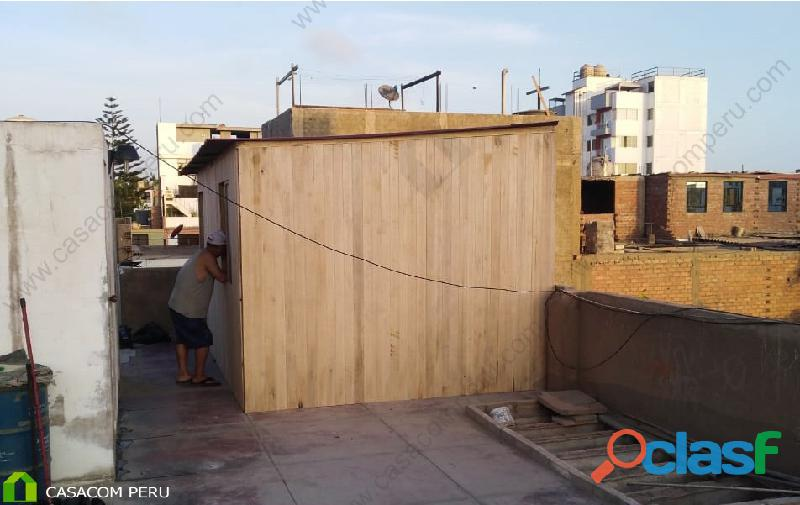 Habitaciones de madera para terrazas en los olivos, peru