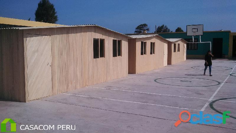 Venta de campamentos prefabricados revestidos para inmobiliarias en peru