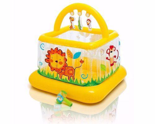 Intex -piscina corralito cuna inflable para bebé - amarillo