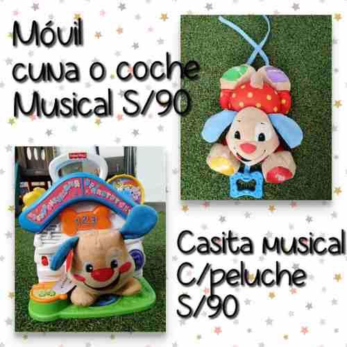 Juguete musical casita perrito fisher price