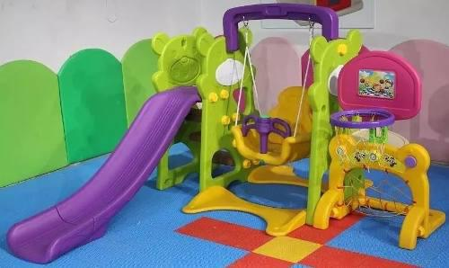 Set didactico tobogan columpio 4 en 1 - juegos para niños