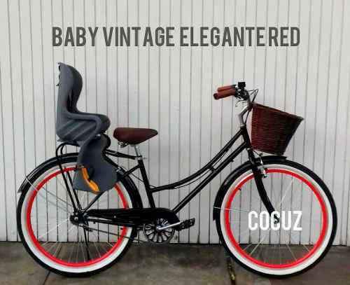 Baby vintage bicicleta+ asiento y envio nuevos