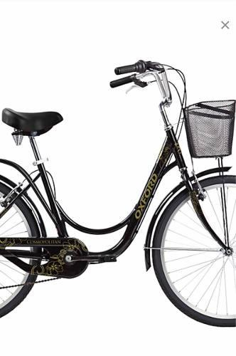 Bicicleta oxford mujer nueva aro 26 gris plata