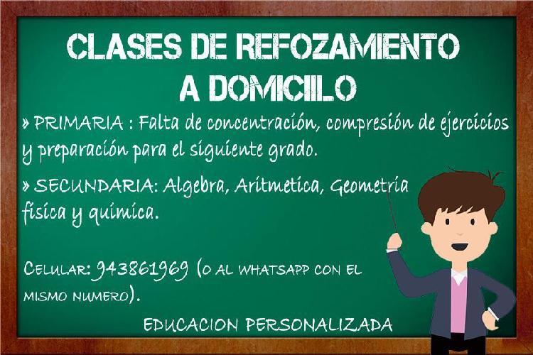 Clases particulares primaria secundaria pre universitario.